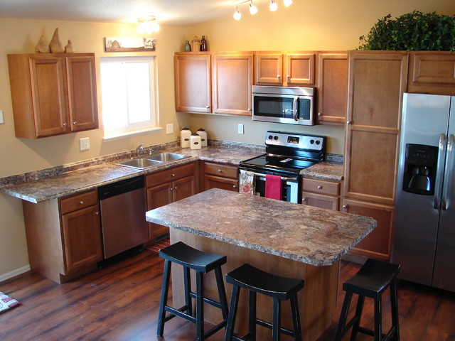Small L Shaped Kitchens ambleside - transitional - kitchen - denver -castle kitchens