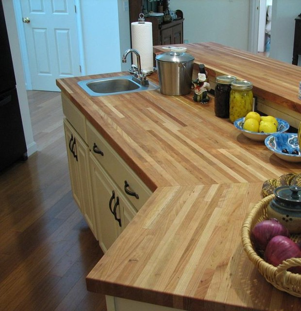 American Cherry Butcher Block - Traditional - Kitchen ...