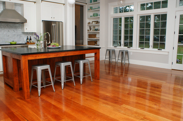 American Cherry Wood Floors   Contemporary   Kitchen ...