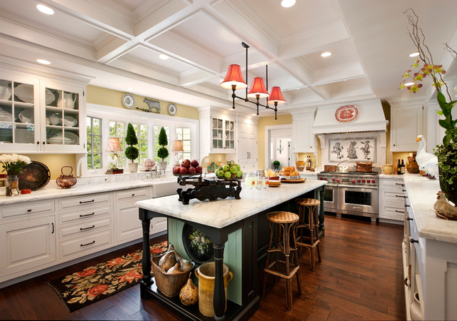 American colonial revival traditional kitchen santa for Santa barbara kitchens