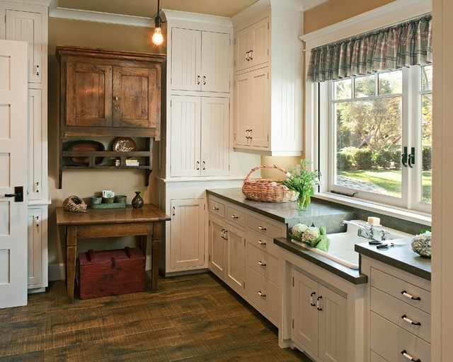 American country kitchen traditional kitchen san for Building traditional kitchen cabinets by jim tolpin