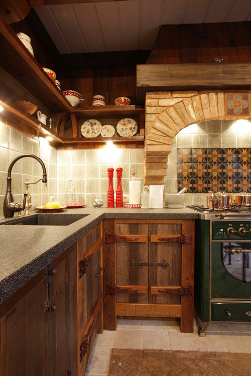 High end appliances and rustic style kitchens designer - Images of rustic kitchens ...