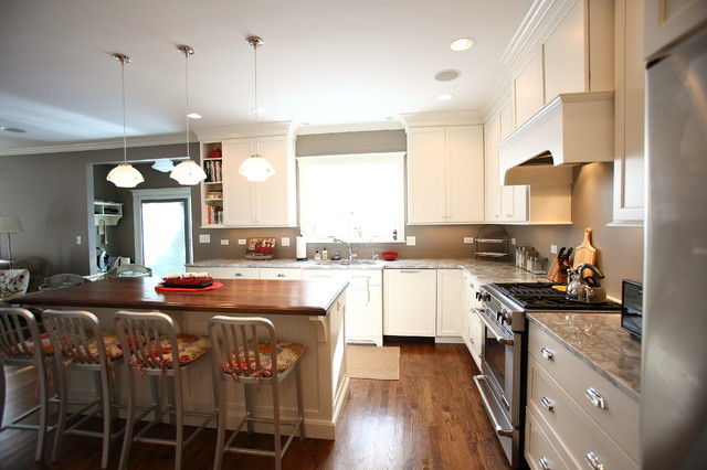 American Four Square Style Home Renovation - Traditional - Kitchen ...