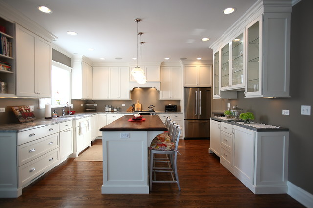 American Four Square Style Home Renovation Traditional Kitchen
