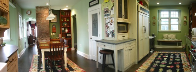 American Foursquare Design With Modern Upgrades Blended W 19th Century Details Traditional Kitchen