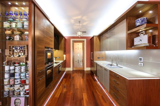 American Walnut & Metallic Kitchen contemporary-kitchen