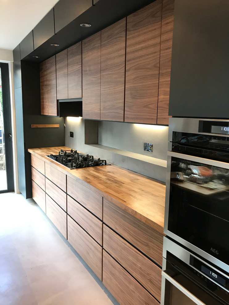 American Walnut Bespoke Kitchen Modern Kitchen London By Newton Slate