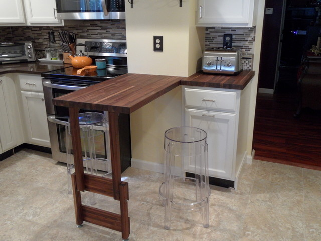 American Walnut Butcher Block Countertop - Contemporary - Kitchen - other metro - by Lumber ...