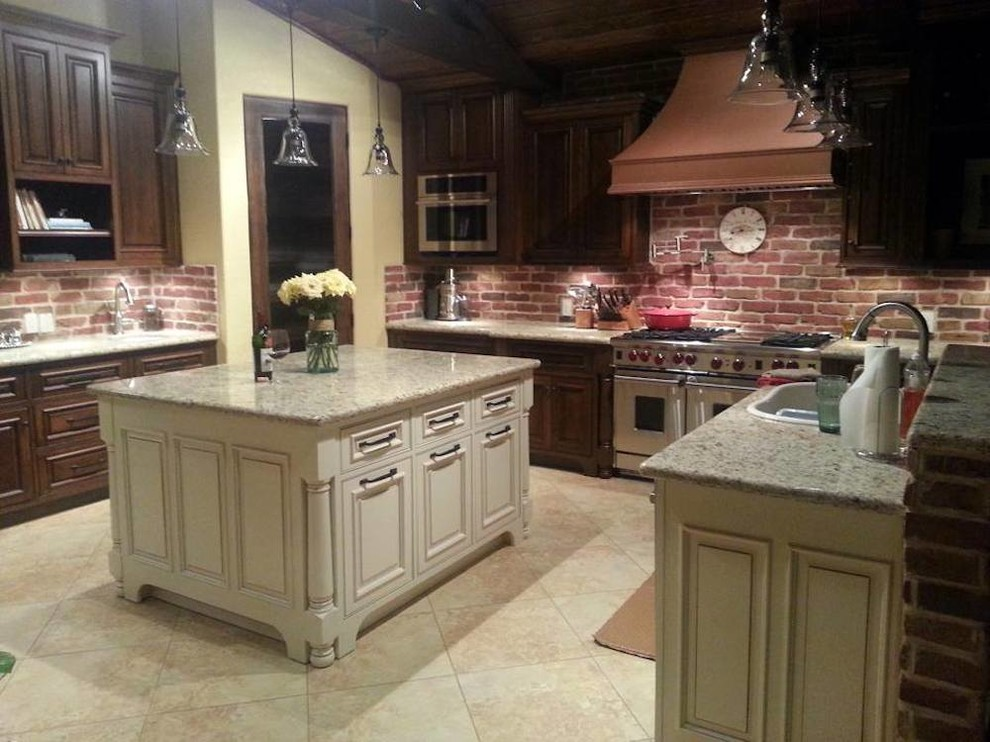 Amish Kitchen Cabinets - Kitchen in Katy - Transitional ...