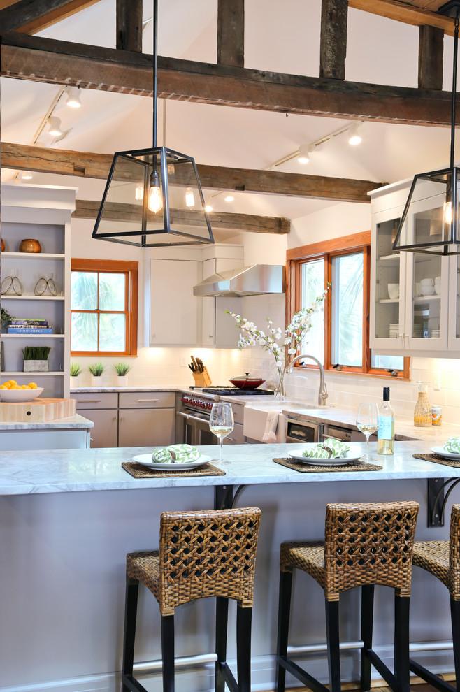 Inspiration for a coastal kitchen remodel in San Francisco
