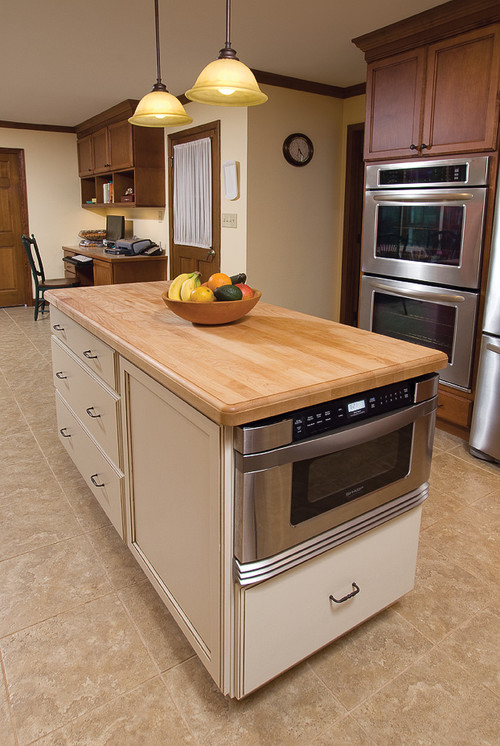microwave in island pros amp cons drawer microwave in island traditional kitchen