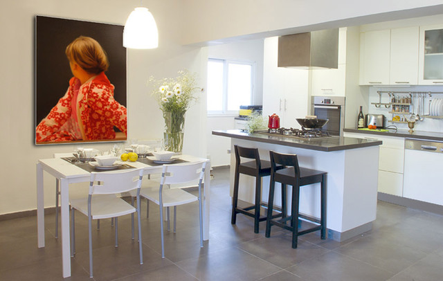 The apartment on rehavat ilan st, Givat Shmuel modern kitchen