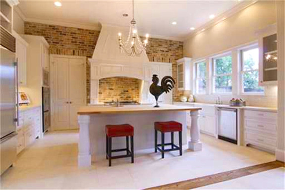 An English Tudor Kitchen with Brick Accents traditional-kitchen