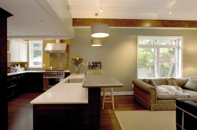 An expanded, professional Kitchen contemporary-kitchen