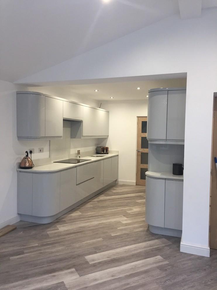 An Innova Luca Gloss Dove Grey Kitchen Real Customer Kitchens Kitchen Cheshire By Diy Kitchens