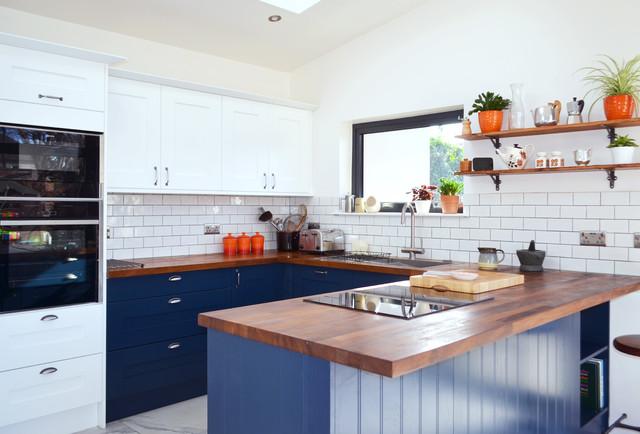 An Innova Norton White Amp Blue Kitchen Real Customer
