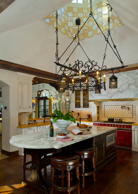 An Italian Villa, Carmel, California mediterranean-kitchen