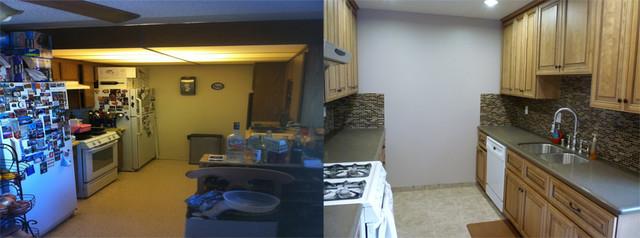 Anaheim Condo Kitchen Upgrade Transitional Kitchen Los Angeles By Sk Home Designz