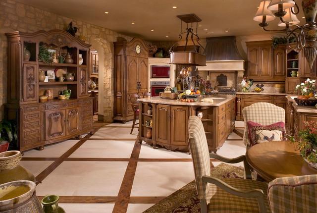 Anaheim Hills Tuscan Villa mediterranean-kitchen