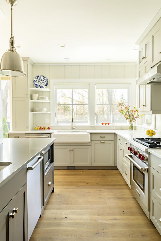 Angevin Beach Style Kitchen Boston By Martha S