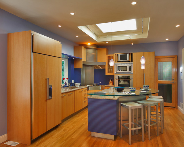 Anigre contemporary kitchen other metro by capitol for Anigre kitchen cabinets