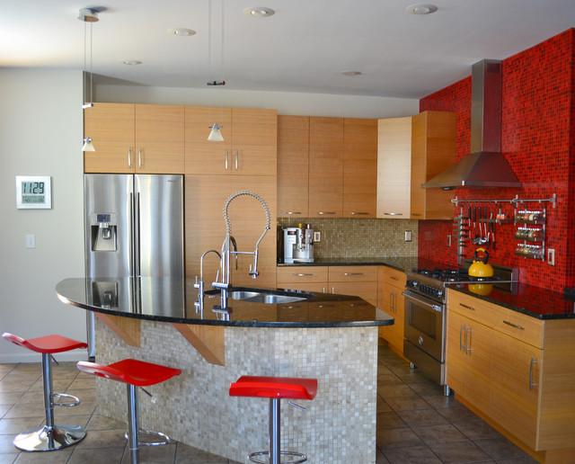Anigre kitchen modern kitchen cincinnati by bench for Anigre kitchen cabinets