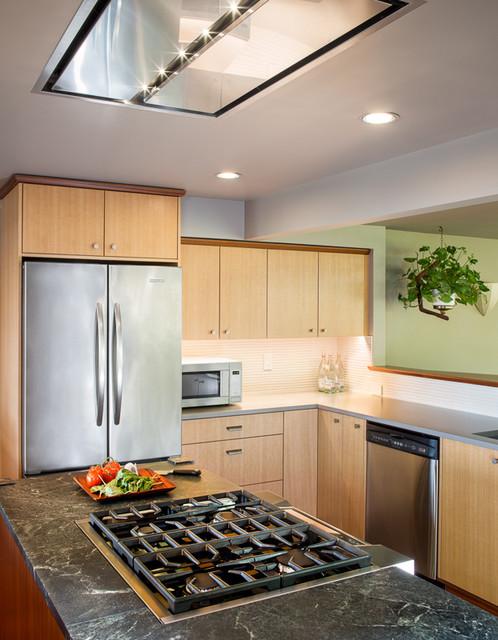Anigre kitchen contemporary kitchen seattle by for Anigre kitchen cabinets