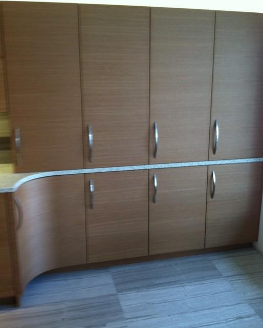 Anigre Veneer Kitchen