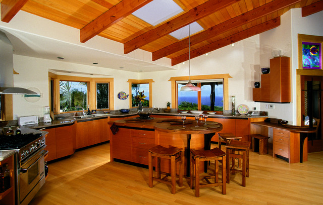 another beautiful haiku house tropical kitchen hawaii by maui architectural group inc. Black Bedroom Furniture Sets. Home Design Ideas
