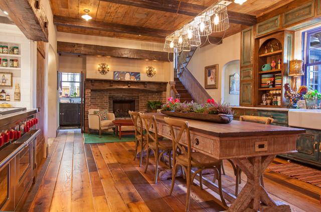 Antique Barnboard Oak Flooring farmhouse-kitchen