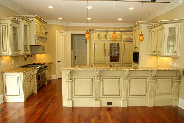 Antique Glazed Cabinetry - Traditional - Kitchen - Other ...