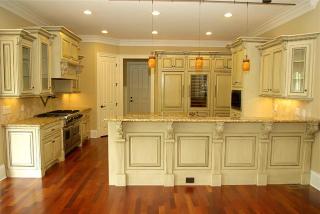 Antique Glazed Cabinetry Traditional Kitchen Atlanta