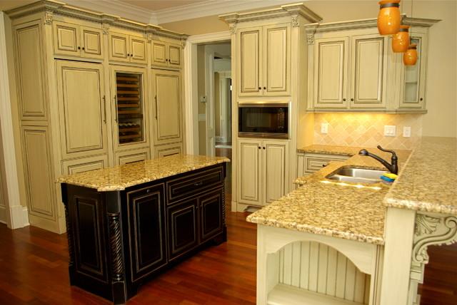 Antique Glazed Cabinetry   Traditional   Kitchen   Atlanta ...