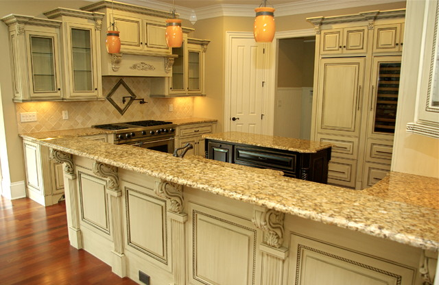 antique glazed cabinetry - traditional - kitchen - atlanta -