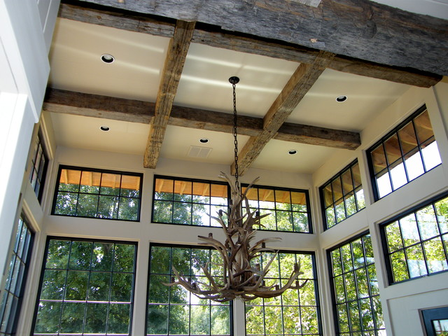 Antique, Hand Hewn Beams traditional kitchen