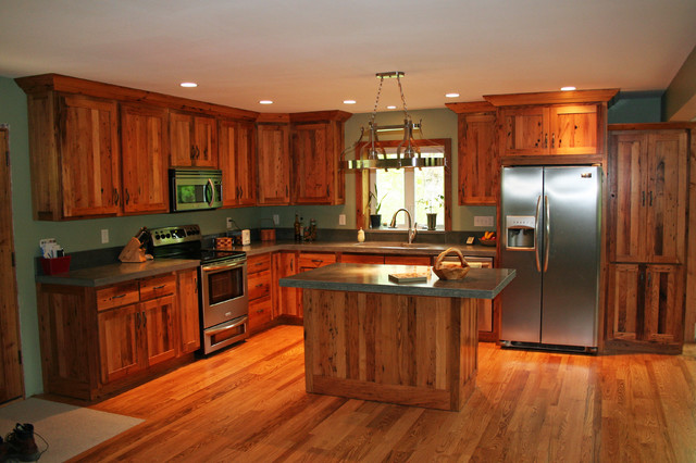 antique reclaimed chestnut kitchen cabinets traditional kitchen - Kd Kitchen Cabinets