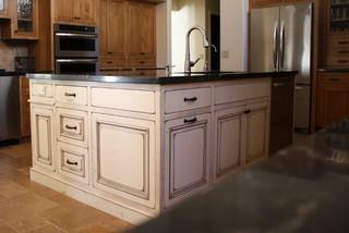 terrific antique white kitchen island   Antique White Island - Traditional - Kitchen - phoenix ...