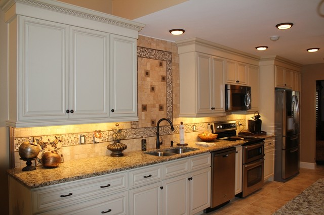 Antique white linen cabinets adams residence lake mary fl - Antique bathroom linen cabinets ideas ...