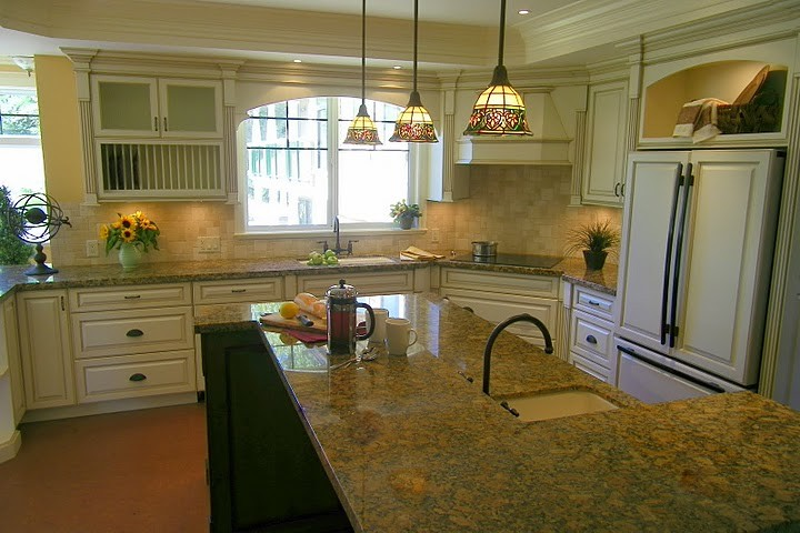 Antiqued Cream Kitchen Cabinets Traditional Kitchen Vancouver By Jil Sonia Interiors