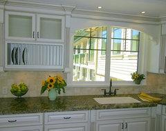Antiqued Cream Kitchen cabinets traditional-kitchen
