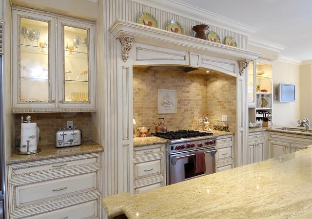 Antiqued  Kitchen mediterranean-kitchen