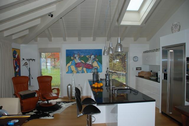 Apartment at Faulensee Switzerland modern-kitchen
