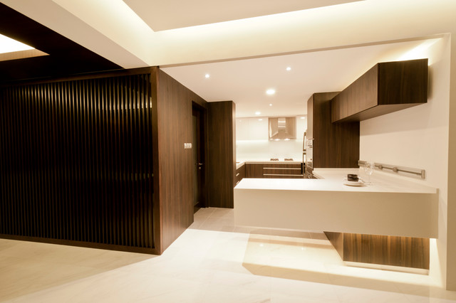 Apartment at Spring Grove -Singapore contemporary-kitchen