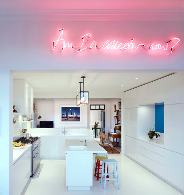 Bedroom hanging lamps - Apartment Chelsea Contemporary Kitchen London By Stiff And