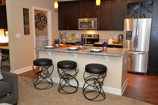 Apartment Complex Furnishings Overland Park Ks Transitional Kitchen Kansas City By A