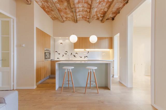 Apartment in Gràcia. skandinavisch-kueche