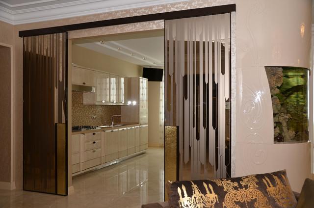 Apartment Interior Design Art Deco Light Modern Kitchen