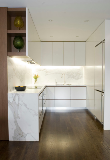 Apartment Interior Fitout By StudioJLA Modern Kitchen