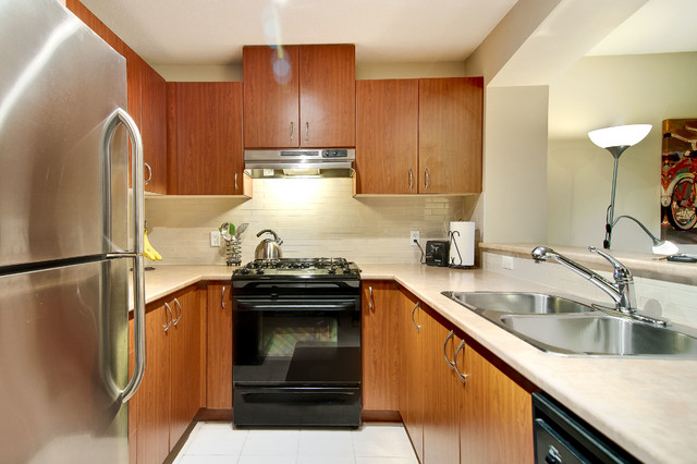 Apartment on Government, Burnaby traditional-kitchen