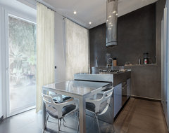 plaster also here... contemporary-kitchen